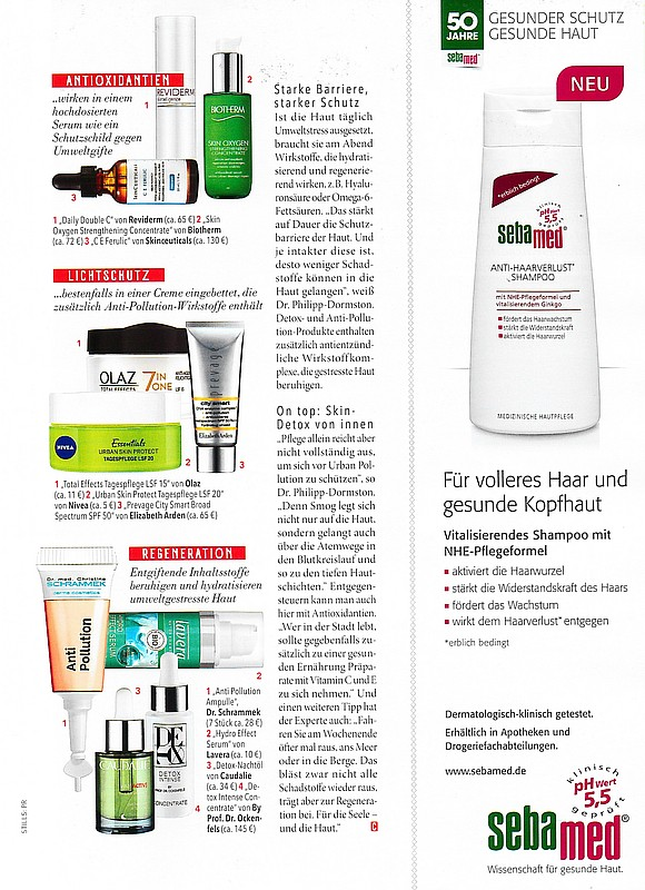 October issue of 《COSMOPOLITAN》 REVIDERM Daily Double C Serum