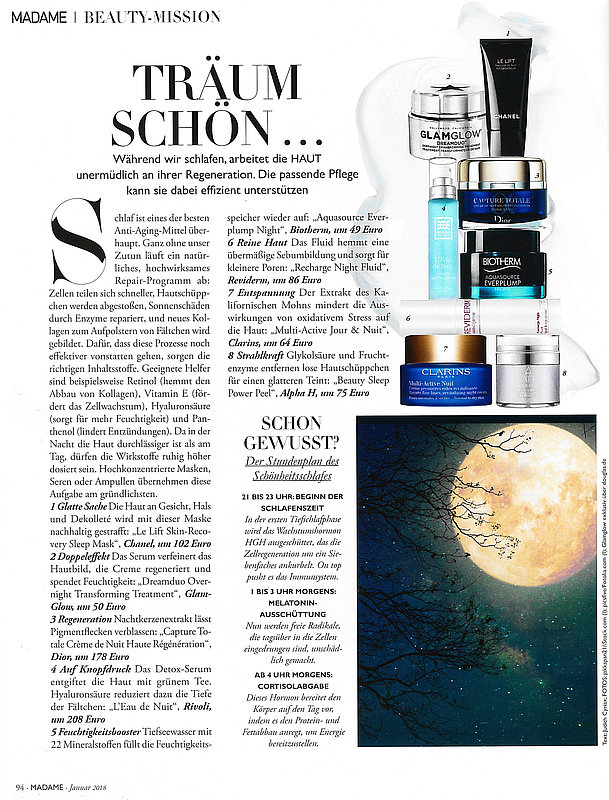 Issue of 《MADAME》 REVIDERM Recharge Night Fluid